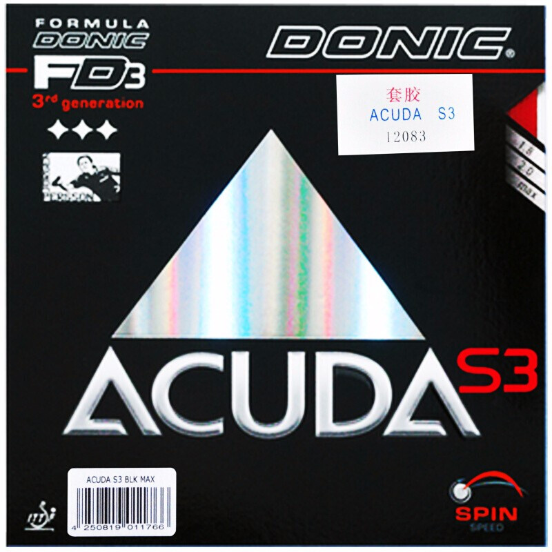DONIC Table Tennis Rubber ACUDA S3 Made In Germany Spin All-around Pimples In With Sponge Ping Pong Tenis De Mesa