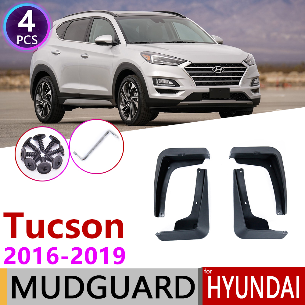 For Hyundai Tucson 3 TL 2016~2019 Front Rear Fender Mudguard Mud Flaps Guard Splash Flap Mudguards Car Accessories 2017 2018