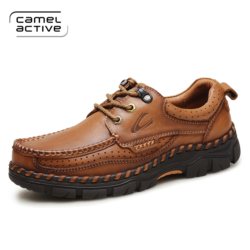 Camel Active 2018 Spring/Autumn Comfortable Outdoor Casual Shoes ,Men Genuine Leather Men's Shoes,Handmade Cow Leathe Shoes цены в интернет-магазинах