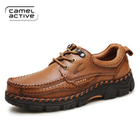 Camel Active 2018 Spring/Autumn Comfortable Outdoor Casual Shoes ,Men Genuine Leather Men's Shoes,Handmade Cow Leathe Shoes