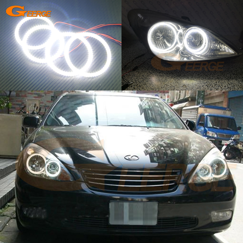 For Lexus ES300 ES330 2002 2003 2004 headlight Excellent DRL Ultra bright illumination smd led Angel Eyes kit Halo Ring for alfa romeo 147 2000 2001 2002 2003 2004 halogen headlight excellent ultra bright illumination ccfl angel eyes kit halo ring