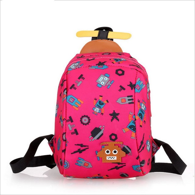 Children Anti lost bag school cartoon animal backpack Baby Toddler kid's leather Schoolbag Shoulder Bag kindergarten bag
