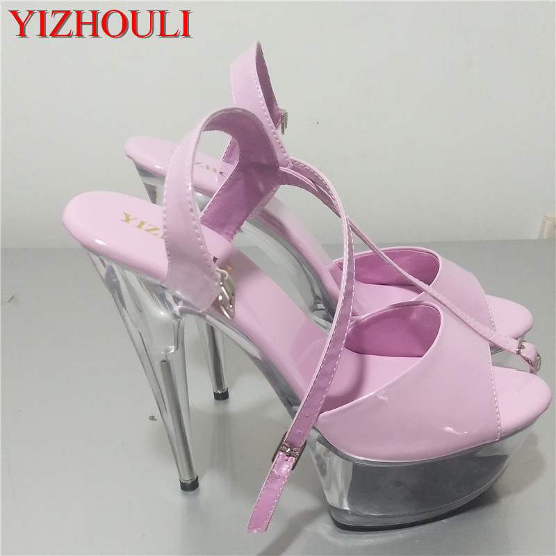 Features high with 15 cm high heel sandals, sexy waterproof high with buckles More color optionalFeatures high with 15 cm high heel sandals, sexy waterproof high with buckles More color optional
