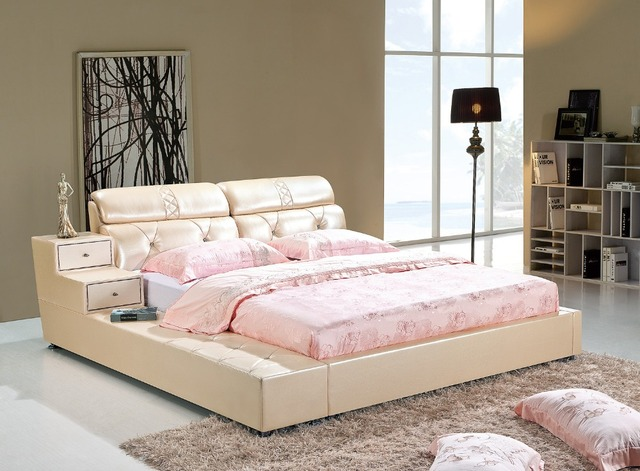 US $2485.0 |Die moderne designer leder weichen bett/große doppel  schlafzimmer möbel, amerikanischen stil in Die moderne designer leder  weichen ...