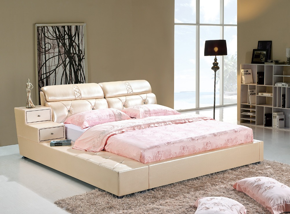 The modern designer leather soft bed   large double bedroom furniture   American style. Compare Prices on Bed Modern Design  Online Shopping Buy Low Price