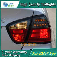 JGD Brand New Styling for BMW E90 316i 318i 320i 325i Tail Lights 2005 2008 LED Tail Light Rear Lamp LED DRL Singal Car Lights