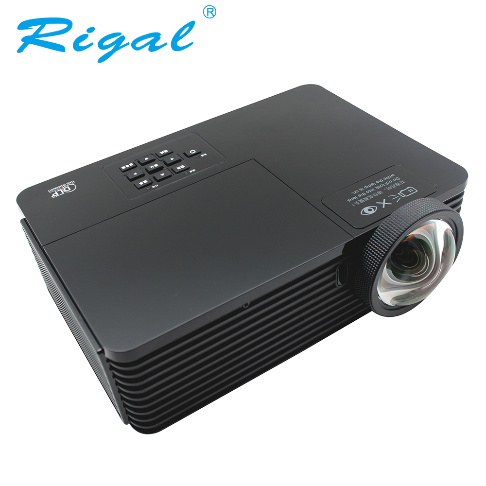 Rigal RD811 DLP Projector Short throw 3200 Ansi Lumen 1024*768 Beamer 3D Home Cinema Theatre Meeting Business Mercury Lamp HDMI unic p1 p1h dlp projector 30 ansi lumen mini tiny handheld pocket proyector built in battery home cinema theater beamer usb tf