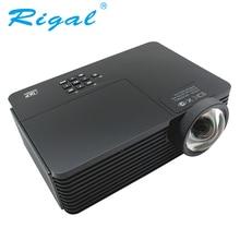 Rigal RD811 DLP tiro Corto Proyector 3200 Ansi Lúmenes 1024*768 Proyector 3D Home Cinema Teatro Reunión de Negocios de Mercurio lámpara HDMI