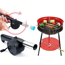 Hand Crank BBQ Fan Air Blower Powered for Home Outdoor Picnic Camping Cooking