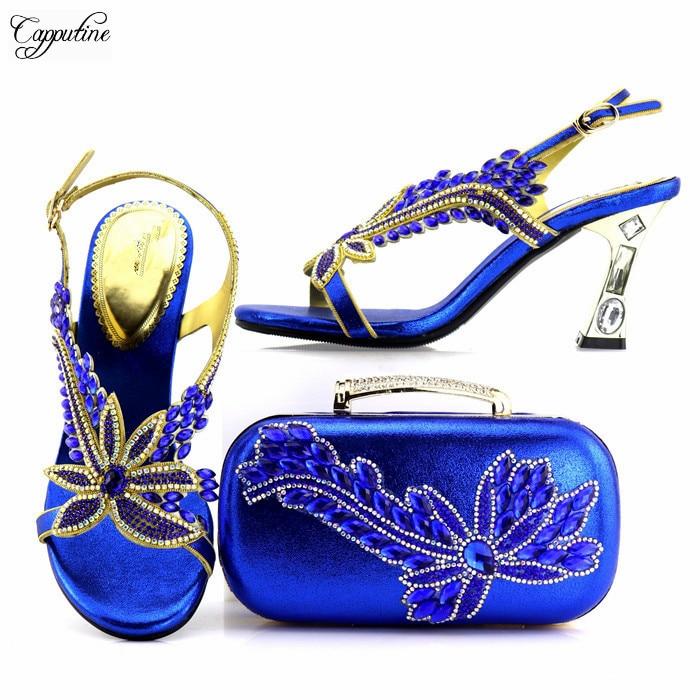 d1117e4f997612 RoyalTalon Charme En 8 rouge Et La 7437 Talons Sac Bleu Cm À Partie Chaussures  bleu Parti Pour Hauteur Royal ...