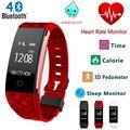 S2 Bluetooth Banda Inteligente Pulseira Monitor De Freqüência Cardíaca Pulseira Smartband Para Android IOS Telefone IP67 À Prova D' Água pk fitbits
