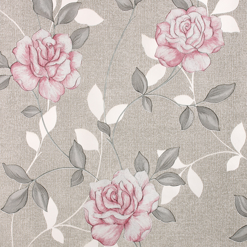 Silver Animal Print Wallpaper Luxury Gold 3d Rose Wallpaper Romantic Floral Background
