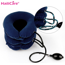 цены Cervical Neck Traction Medical Correction Device Cervical Support Posture Corrector Neck Stretcher Relaxation Inflatable Collar