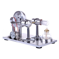 Reinforced Type Lamp Holder Single Cylinder Stirling Engine Physics Experiment Gift Model Education Toy Ornament Discovery Toy