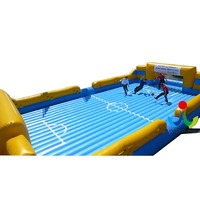 Outdoor giant inflatable football field with inflatable floor for adults,inflatable trampoline and bouncers for kids for sale