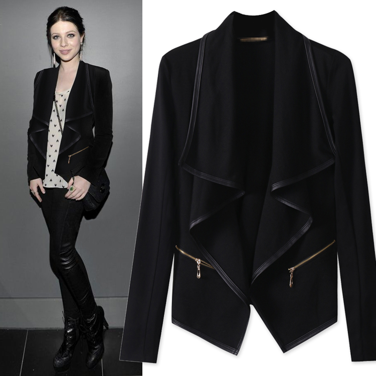 Online Get Cheap Long Black Jacket Women -Aliexpress.com | Alibaba ...