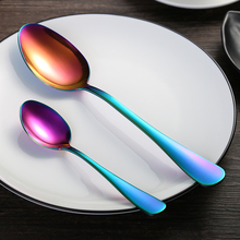 4 piece set / colorful tableware 304 stainless steel cutlery steak cutlery tableware Western rainbow cutlery set