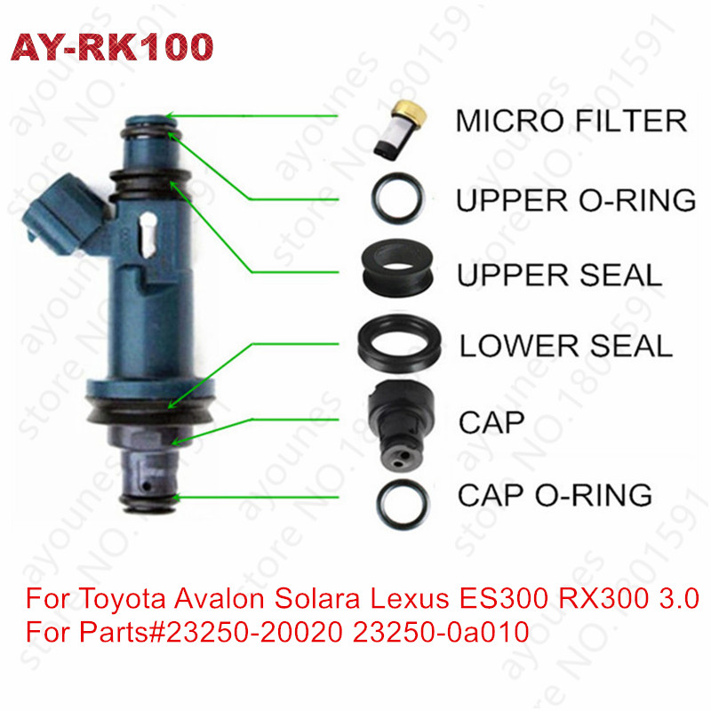 60sets fuel injector repair kits for parts 23250 20020 23250 0A010 for toyota and lexus