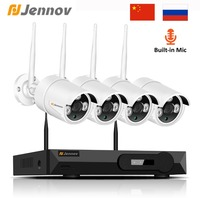Jennov 1080P 4CH Video Surveillance IP Camera WIFI 2MP Security Camera System Wireless With Recording CCTV Kit NVR Set P2P HDMI