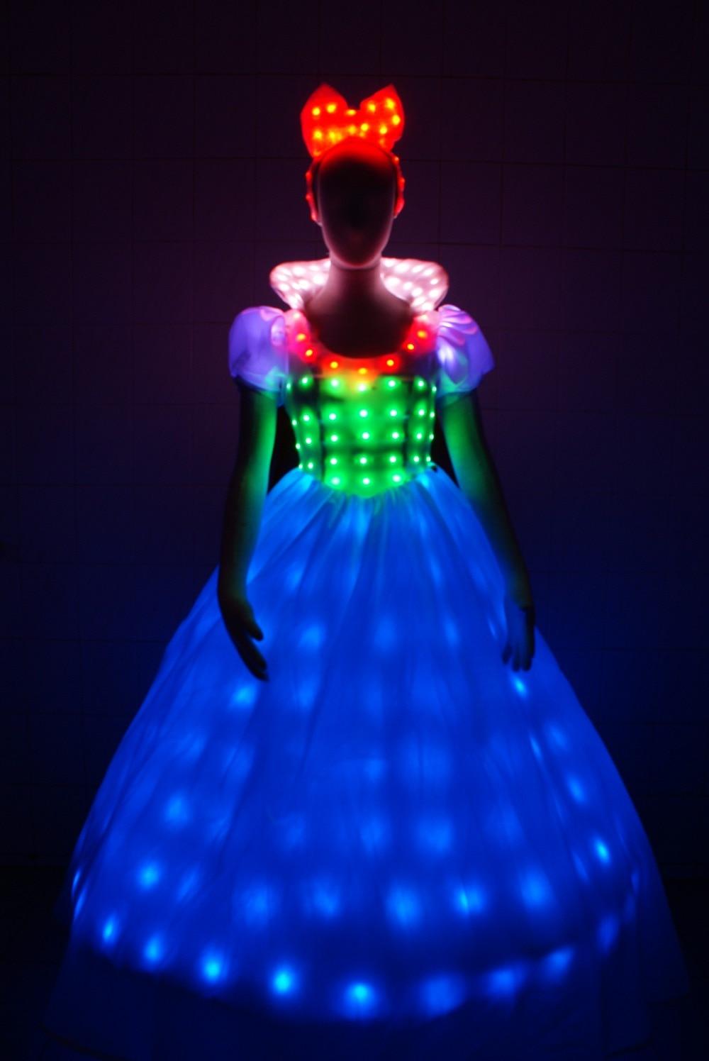 LED Bühne fluoreszierende Kostüme Anzug leuchtende Kleid zeigen - Partyartikel und Dekoration - Foto 1