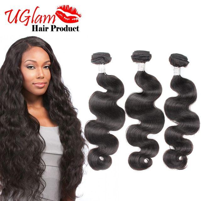 Uglam Hair Unprocessed Brazilian Virgin Hair Body Wave 3 Bundles