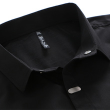 VISADA JAUNA Men's Shirts 2017 Autumn New Arrival British Style Casual Long Sleeve Solid Male Business Slim Fit Shirt 4XL N511