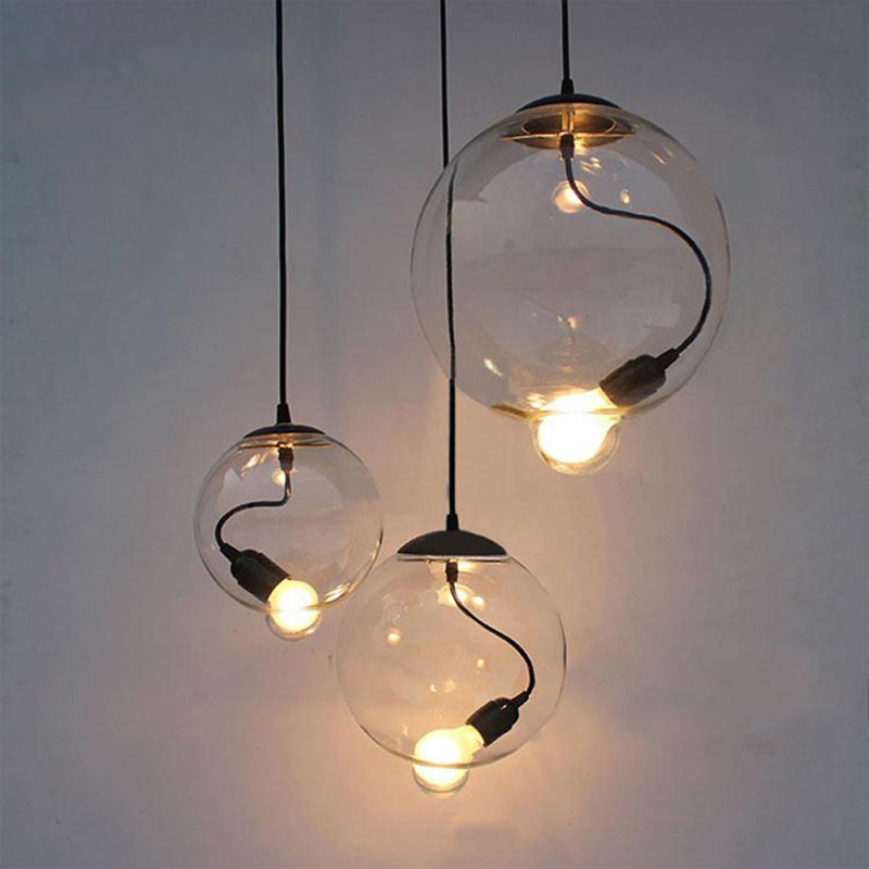 American country glass pendant lamps restaurant dining room personality creative color glass pendant lights ZH GY208 lo1018