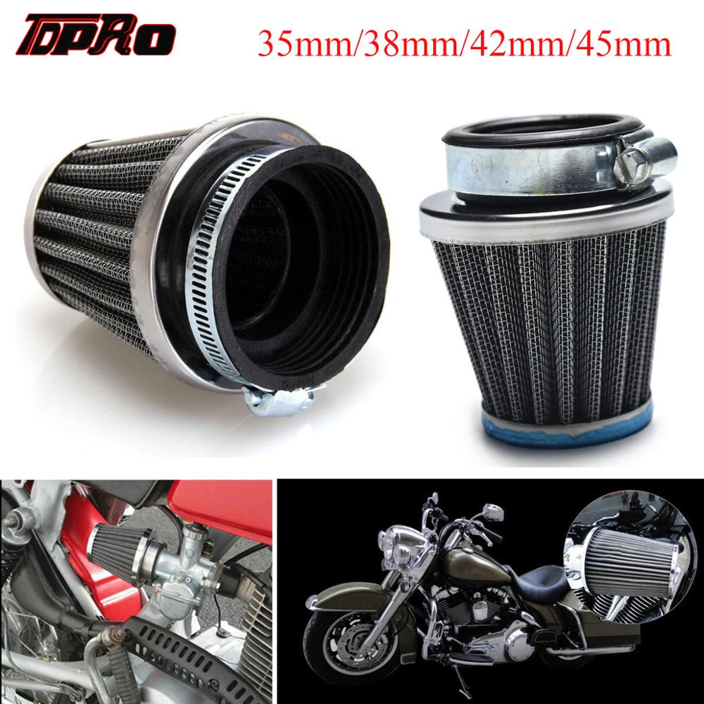 TDPRO Universal 35mm/38mm/42mm/45mm Motorcycle Air Filter Cleaner For Yamaha Kawasaki Dirt Pit Bike ATV Moped Scooter 50cc-150cc