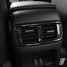 For Honda CR-V CRV 2017 2018 ABS Carbon fibre Car Back Rear Air Condition outlet Vent frame accessories Cover Trim Car-styling decorative carbon mesh sticker for car air condition vent black grey 2 pcs