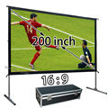 New Quality Image Screen 200inch Floor Stand Frame Front Or Rear Projection Screens 16:9 Quick Folding For Backyard Cinema