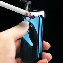 Новинка Зажигалка с двойной дугой электронная usb для сигарет