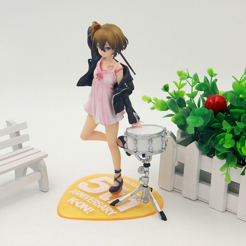 Anime K-on ! Ritsu Tainaka 5th Anniversary PVC Action Figure Collectible Model Toy 20cm KT3447 new 1pcs 22cm pvc japanese anime figure 5th anniversary k on akiyama mio action figure collectible model toys brinquedos gc050