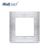Wallpad роскошный алюминиевый сплав панель рамка Серебряная гостиничная панель вертикальная и горизонтальная Рамка 1 2 3 4 5 рамки только панель