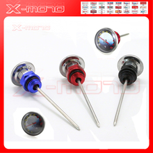 High quality Aluminum short Needle pin Motorcycle Oil Tank Dipstick oil modified generic Thermometer Alu Oil