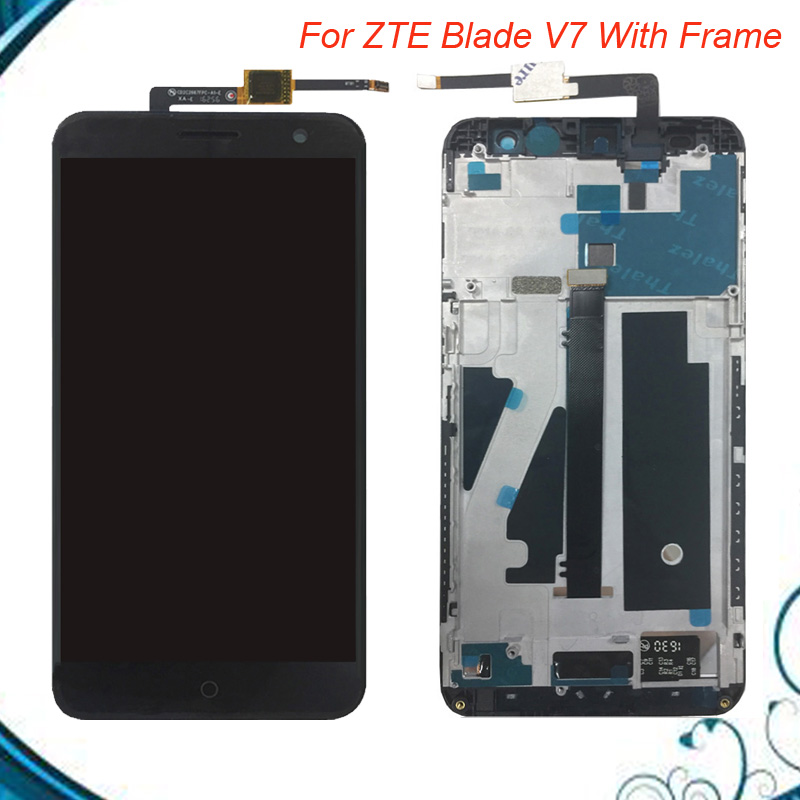 100% Tested OK For 5.2'' ZTE Blade V7 Touch screen lcd display screen assembly with frame for ZTE V7 IN STOCK