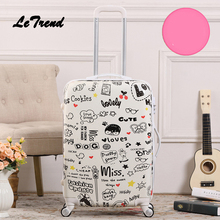 Letrend, креативный студенческий чемодан на колёсиках, Спиннер, мужские колеса, чемодан на колесиках, 20 дюймов, Женская дорожная сумка, для переноски, пароль, багажник