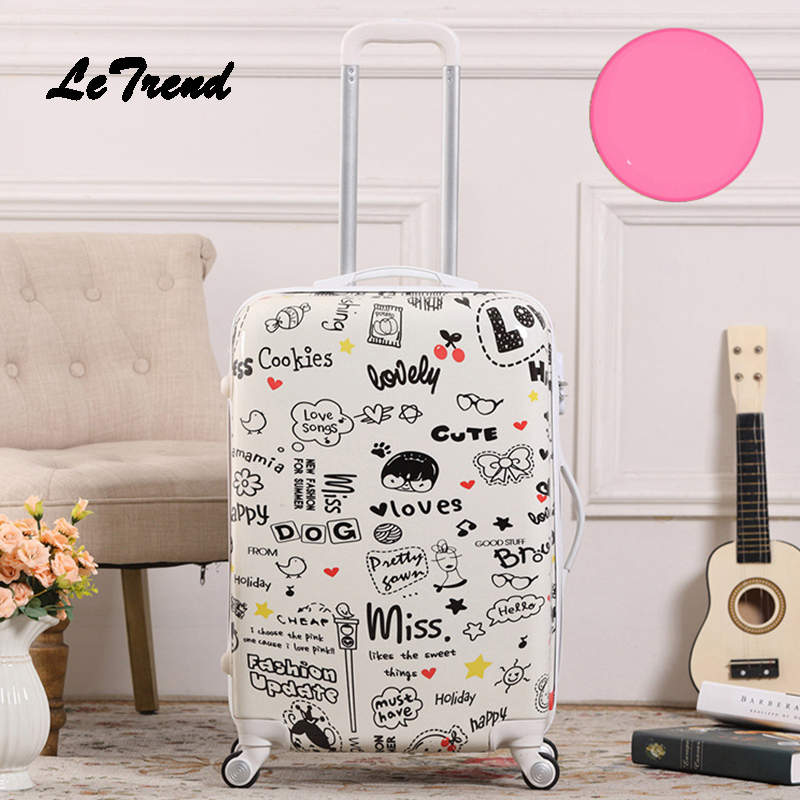 Letrend Creative Student Rolling Luggage Spinner Men Wheels Suitcase Trolley 20 inch Women Travel Bag Carry On Password Trunk тумба акватон мадрид 80