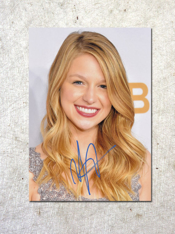 signed Melissa Benoist  autographed original photo Supergirl  7 inches free shipping  092017B signed kobe bryant autographed original photo 7 inches free shipping 08201709