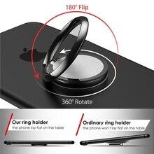 Yokata простой 360 держатель для телефона обычное кольцо кронштейн белый розовое золото черный вращающийся тяжелый магнит удобный автомобильный держатель
