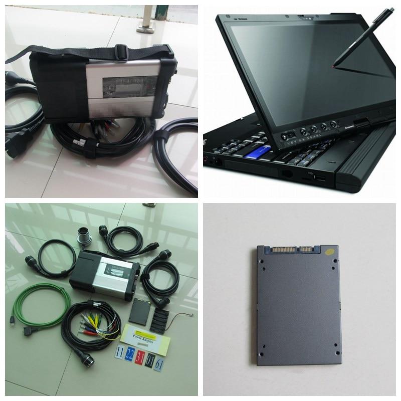 MB Star C5 SD connecter avec le logiciel ssd v2019. 5 super vitesse + X200T écran tactile ordinateur portable pour voitures camions diagnos multi-langues