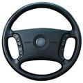 Black Artificial Leather Car Steering Wheel Cover for BMW E46 318i 325i E39 E53 X5