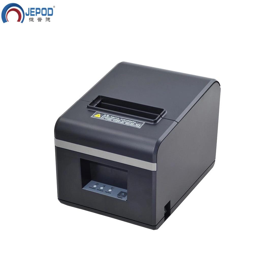 JEPOD XP N160II nouvelle arrivée 80mm automatique cutter reçu imprimante POS imprimante USB/LAN/USB + Bluetooth ports pour magasin de thé au lait - 3