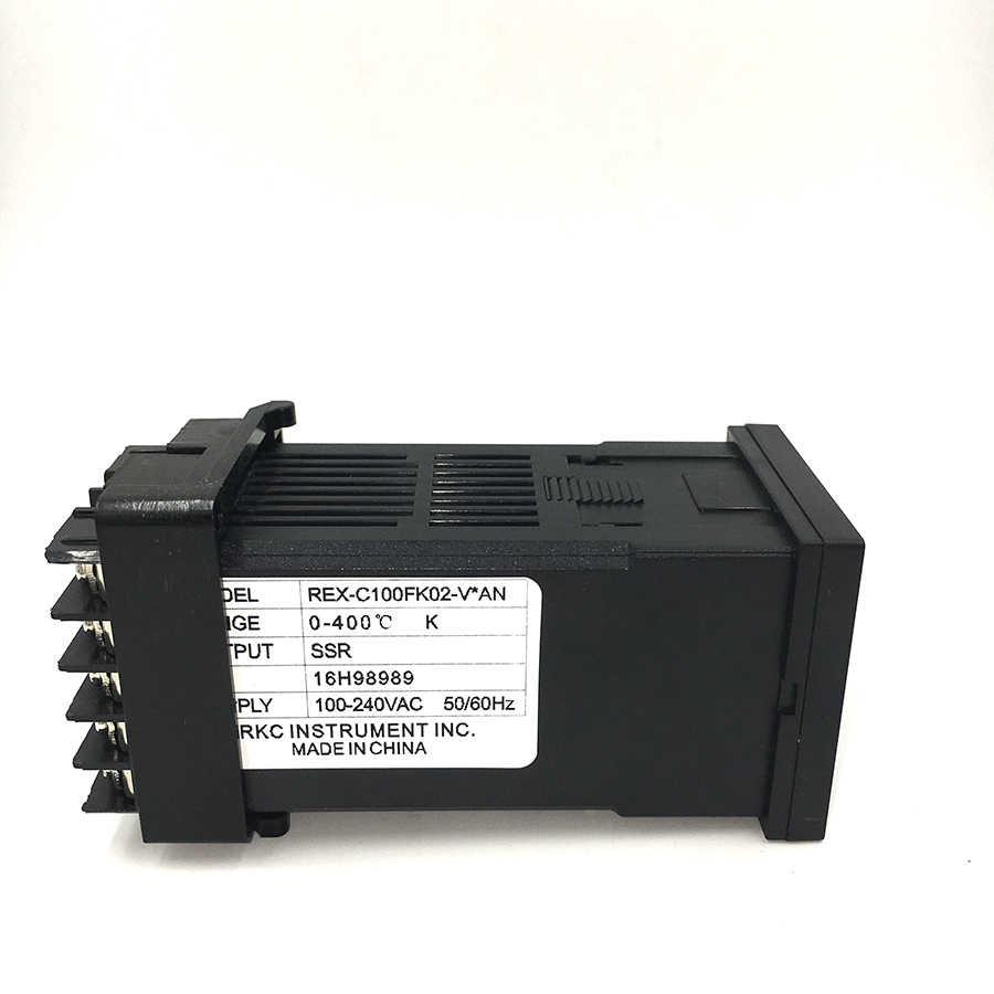small resolution of  digital rkc pid thermostat temperature controller digital rex c100 40a ssr relay k