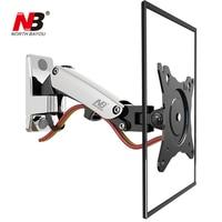 NB F120 17 27 Gas Spring Full Motion TV Wall Mount LCD Monitor Holder Aluminum Arm
