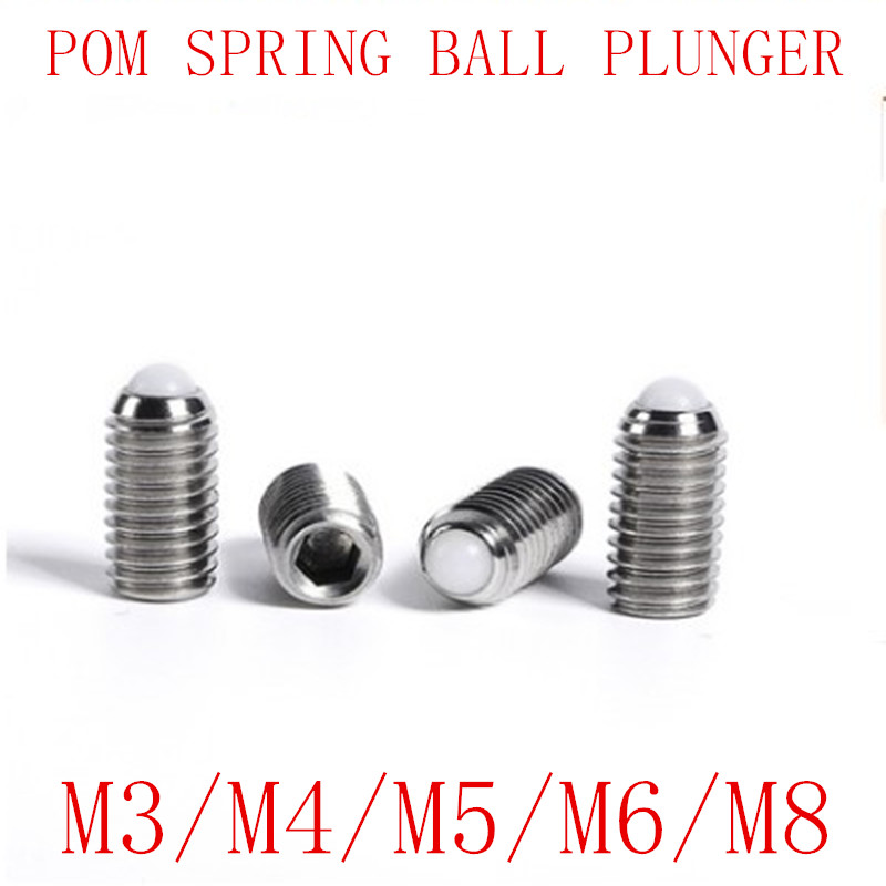 Northwestern 25 pc Plastic Spring Plungers Stainless Steel Ball 4 mm Diameter