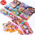 Baby Toys 60Pcs Wood Puzzle Anime Cartoon Puzzle Iron Box Package Jigsaw Puzzle CC Education Early Learning Child Gift