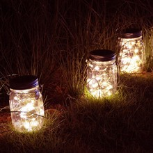 20 LED Solar String Night Light Remote Tree Decoration Battery Outdoor Patio For Garden Deck Wedding Holiday