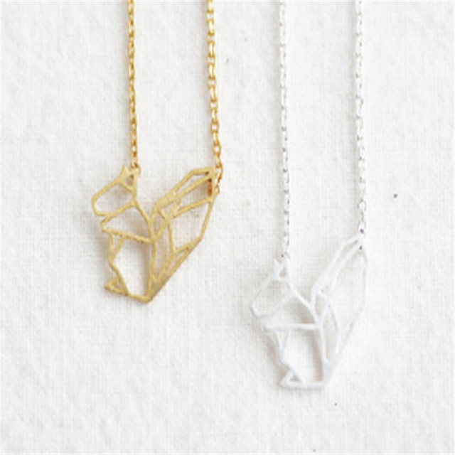 Simple cute squirrel pendant necklace cute squirrel necklaces for simple cute squirrel pendant necklace cute squirrel necklaces for women girl jewelry wholesale aloadofball Gallery
