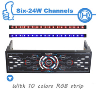 ALSEYE Fan Controller 6 Channels With Dual RGB Strip For Computer Case 10 Colors LED Light