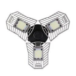 60 W Led Deformable lámpara luz del garaje E27 bombilla de maíz LED Radar iluminación de alta intensidad aparcamiento almacén lámpara Industrial